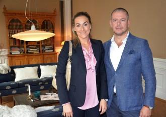 Vinotekets ekonomichef Sonja Vidriksson med sambon Gustav Wiklund