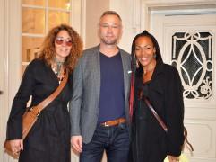 Kayo med Siroun Forsberg, chefsstylist på TV4 samt Richard Bergstedt VD Thyssen Hissar.