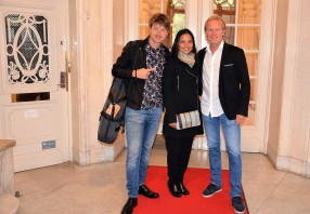 Magnus Lindgren med sin fru Alba – en av världens mest respekterade jazzmusiker samt Per Forsby
