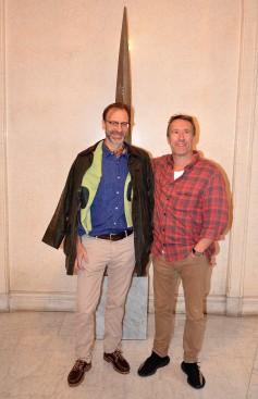 Christofer Stannow, mastrare med sin vän Adam Lindroth