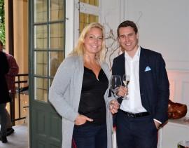 Johan Lilljebjörn, marknadschef på Vinoteket samt Belinda Furuskog