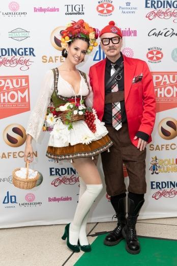 Peter Englund med vän. Foto: Jackeline Perez
