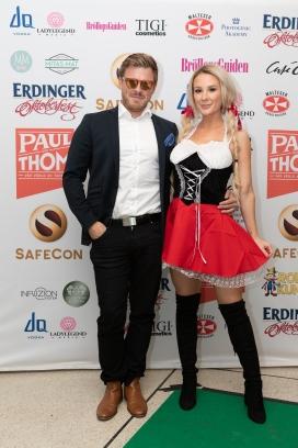 Bloggaren Alexandra Nilsson med pojkvännen Andreas Hellmers. Foto: Jackeline Perez