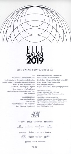 Elle galan 2019 Program 5