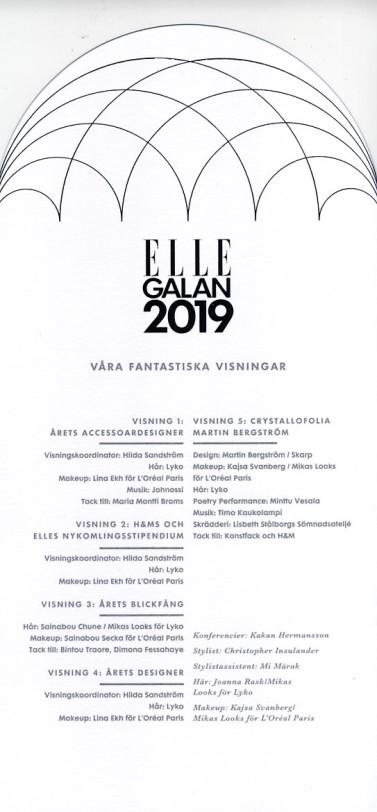 Elle galan 2019 Program 3