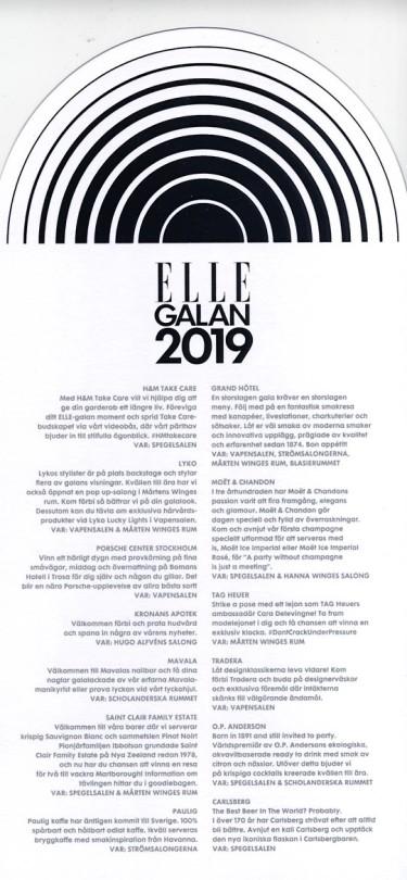 Elle galan 2019 Program 4