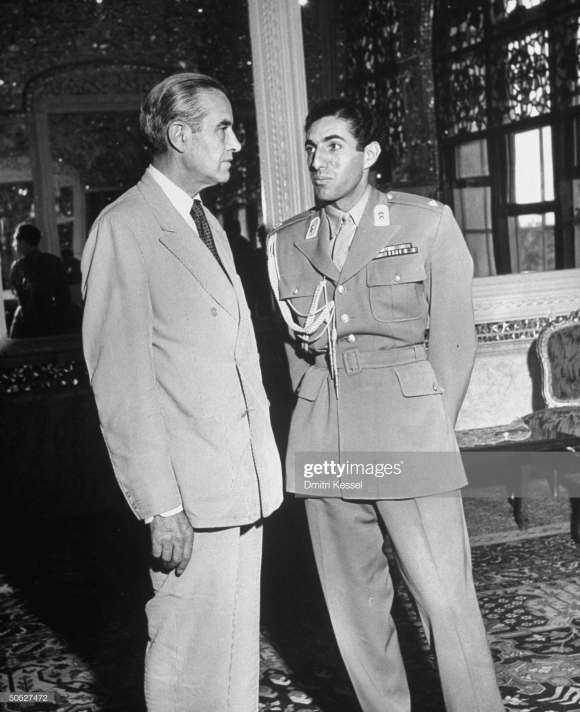 Averell Harriman talking with Prince Ali Reza. (Photo by Dmitri Kessel/The LIFE Picture Collection/Getty Images)