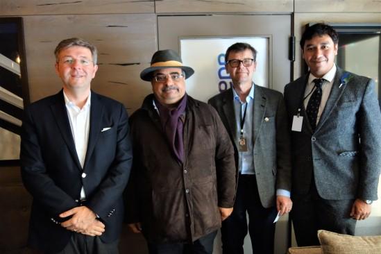 HH Sheikh Salman bin Khalifa Al Khalifa with the representatives of LGT Group (owned by the Prince of Liechtenstein Foundation)