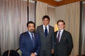 Investor Ahmed Kanoo, Henri Estramant (Royal Bridges) and Prince Henri de Bourbon de Parme - Picture by Royal Bridges
