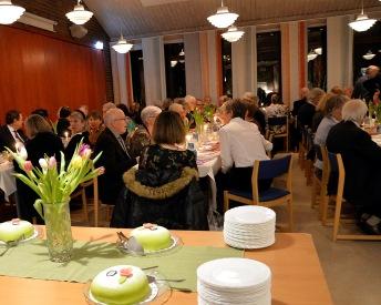 Efter minneskonserten avslutades samvaron med Karl-Otto´s älsklingstårta den gröna Prinsesstårtan.